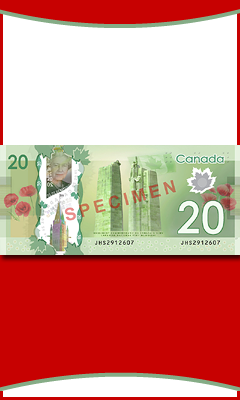 Free Canadian-theme blank banner 240x400