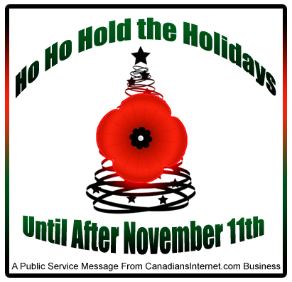 Respect Remembrance Day and Still Beat Online Holiday Shopping Deadlines