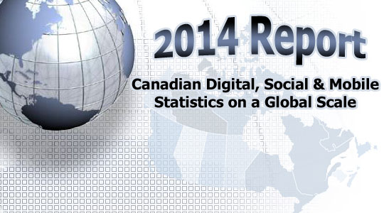 Canadian Digital, Social and Mobile Statistics on a Global Scale