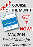 May Free Course of the Month - Social Media for Lead Generation