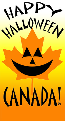 Free Canadian Happy Halloween Graphic