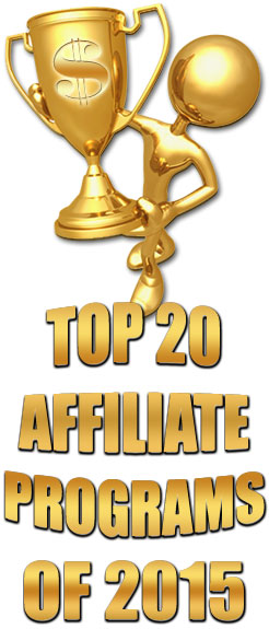 Top 20 Earning Affiliate Programs of 2015