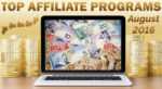Top 10 Earning Affiliate Programs for August, 2016