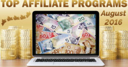Top 10 Earning Affiliate Programs for August, 2016 ©