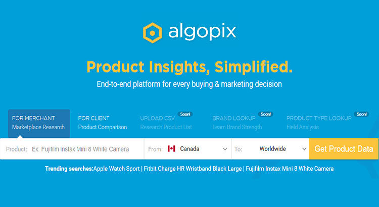 New Cool Tool: Algopix Automated Market Research