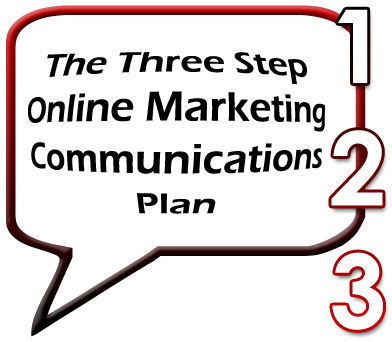 Three Step Online Marketing Communications Plan