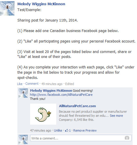 Canadian Business Co-operative Social Media Engagement Groups