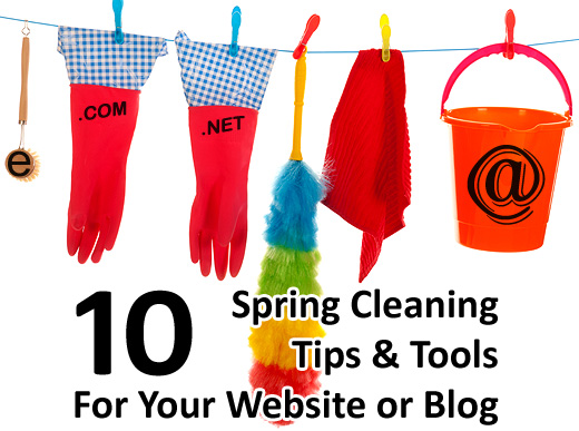 10 Spring Cleaning Tips for your Website or Blog