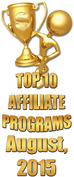 Top 10 Earning Affiliate Programs for August 2015