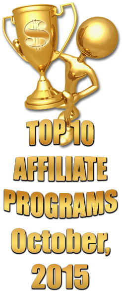 Top 10 Earning Affiliate Programs for October, 2015