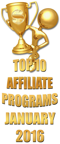 Top 10 Performing Affiliate Programs - January 2016