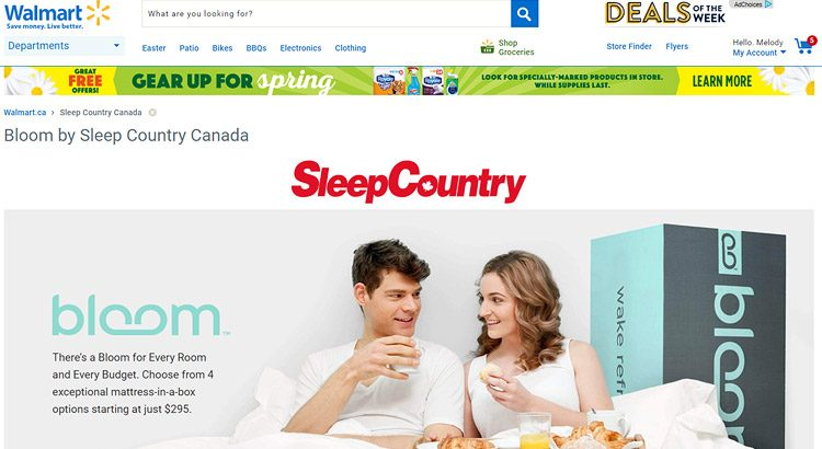 Sleep Country Jumps Into Walmart Canada's Online Marketplace