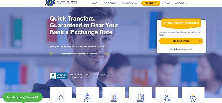Featured Canadian Company – Knightsbridge Foreign Exchange Inc.