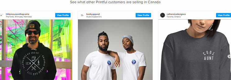 Canadian Online Businesses Using POD